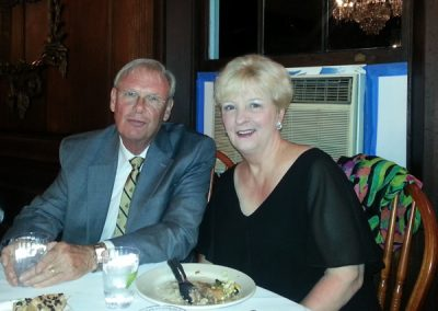 Randy Hilton and his wife Vicki enjoyed the buffet dinner in the mansion's dining room