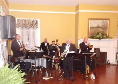 The Martinsburg Jazz Ochestra performed in the Claymont Ballroom
