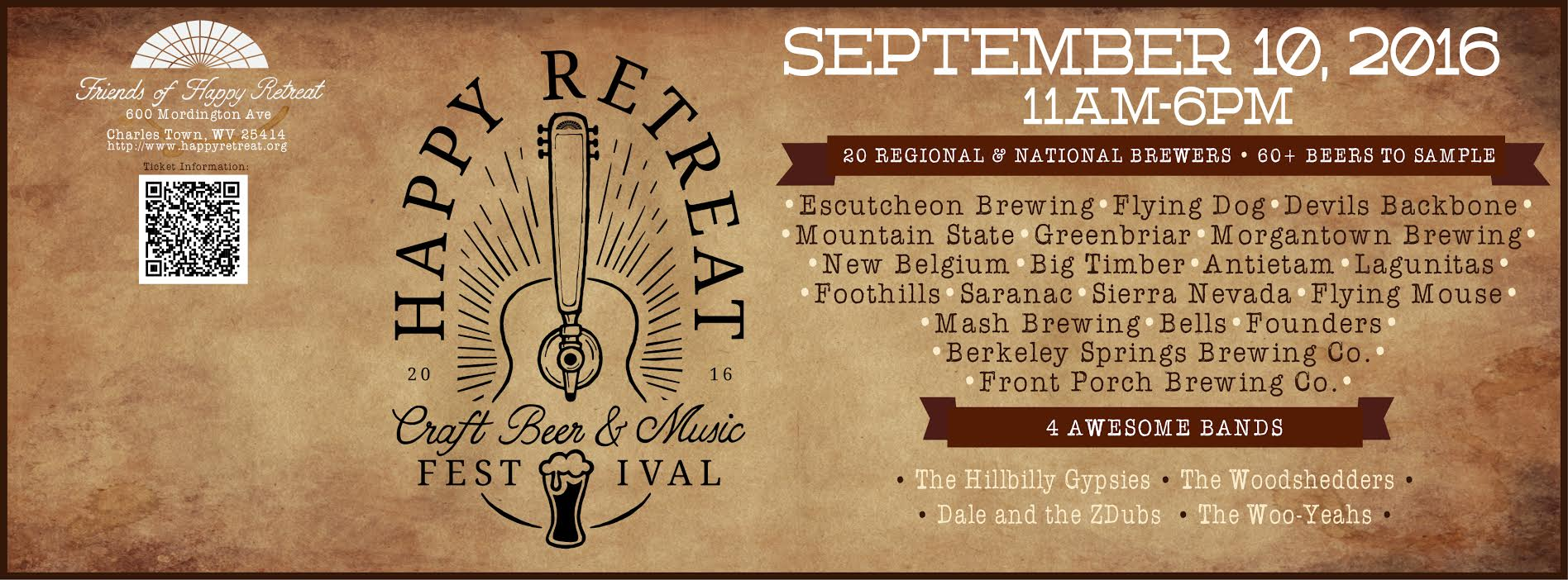 Happy Retreat Beer Fest Banner