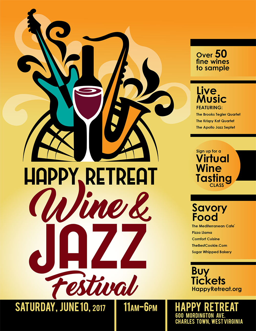 Wine And Jazz Festival Poster