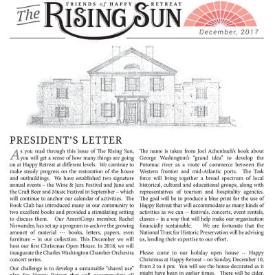 December 2017 Rising Sun Newsletter
