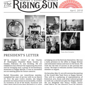 April 2018 Rising Sun Newsletter