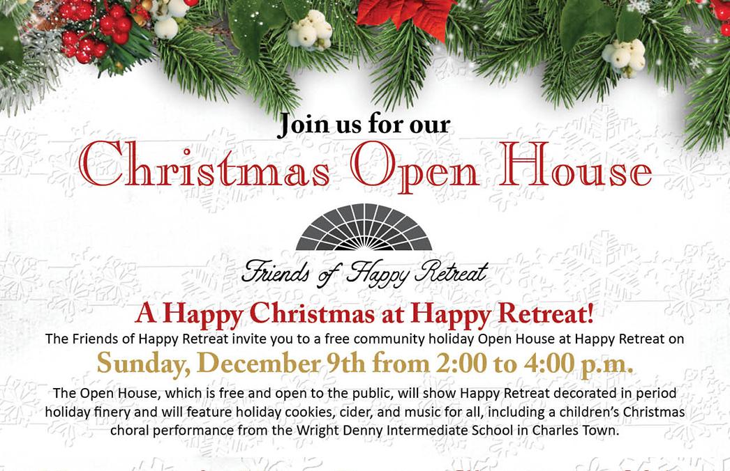 Christmas Open House.Christmas Open House Banner Happy Retreat