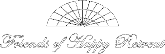 white transparent happy retreat logo
