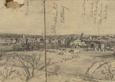 Alfred Waud sketch dated 1862